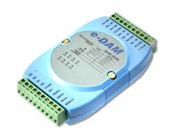 EDAM-8060D (4-ch isolated digital input and 4-ch relay output module with LED)